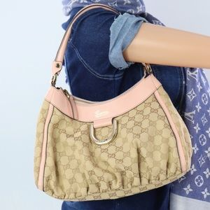 💎✨Authentic✨💎GUCCI Jacquard & Leather Handbag